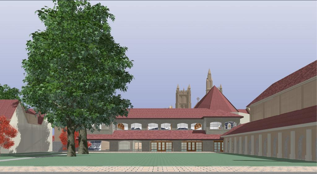 The Diocesan Project On some of our elevation drawings, like the one opposite, you will see a building to the southeast of the proposed parish hall.
