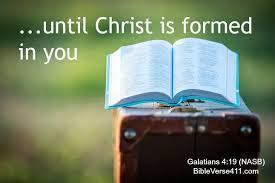 vi) It is a key to growing in Christlike character The Apostle Paul wrote, My little children, for whom I labour in birth again until Christ is formed in you, (Galatians 4:19) Spending time in God s