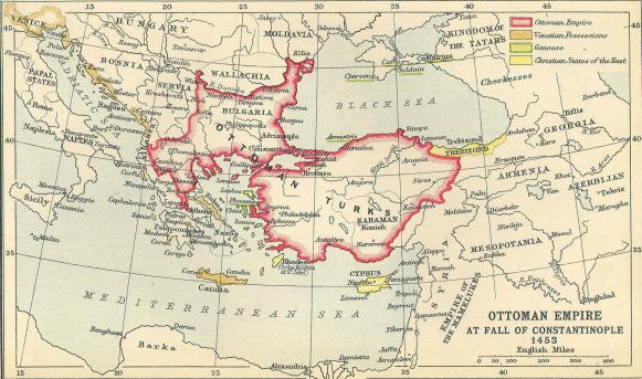 CONSTANTINOPLE: Present Day Turkey ~ Now called eastern
