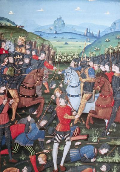 Charles Martel victorious in Battle of Tours (732), over