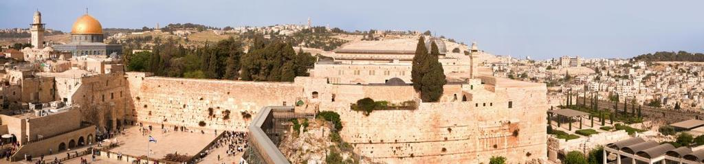 Overnight, Jerusalem WEDNESDAY Jerusalem: The Old City Start the day with a magnificent panoramic view from Mount of Olives. Drive to the Old City.