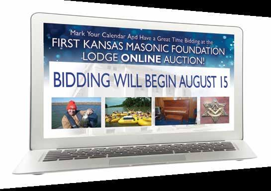 By Kansas Masonic Foundation Staff IT S ALWAYS AUCTION TIME AT THE KMF!
