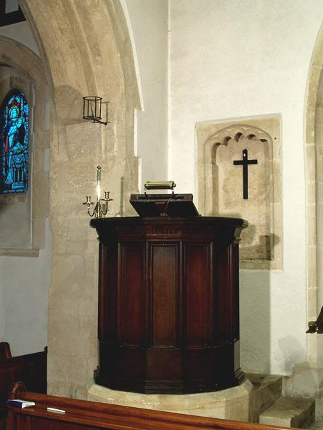The squint allowed a view of the high altar so that the lifting of the sacrament could be viewed or co-ordinated throughout the church.