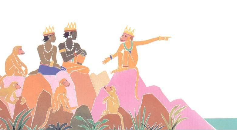 Rama and Lakshmana searched many months for Sita.