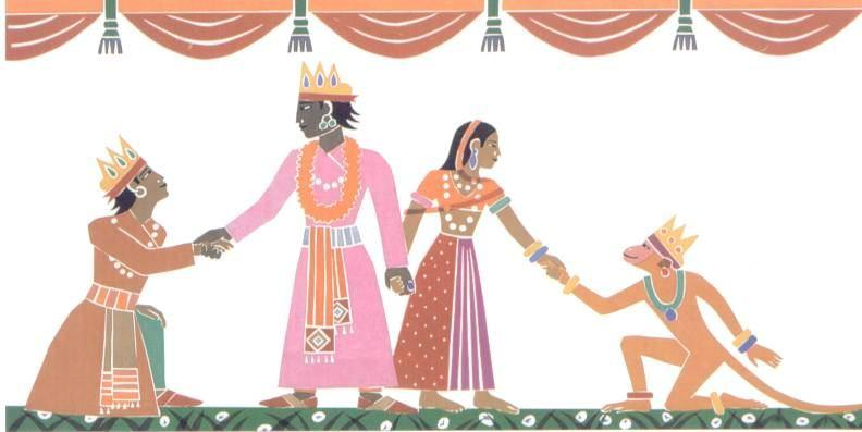 Everyone was happy and Rama and Sita ruled well.