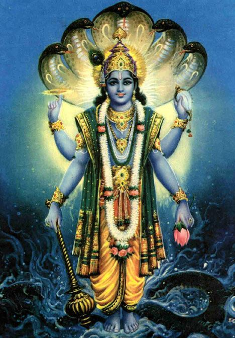 Vishnu! He is thought of as the preserver of the universe.
