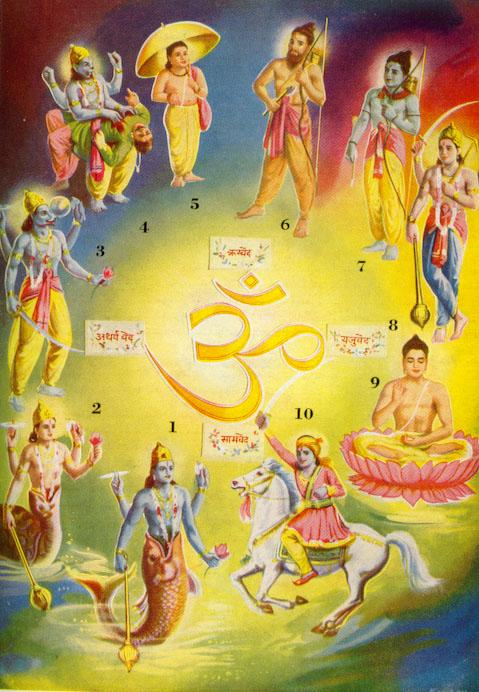 Vishnu has many AVATARS (incarnations)who appear on earth as humans or animals to conquer