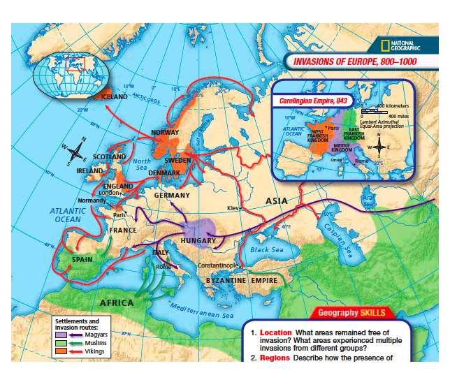 3. The Carolingian Empire fell apart after Charlemagne s