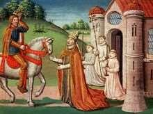 1. In 800, Charlemagne was crowned Emperor of the Romans by the Pope.