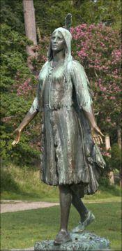 A Pocahontas statue was erected in