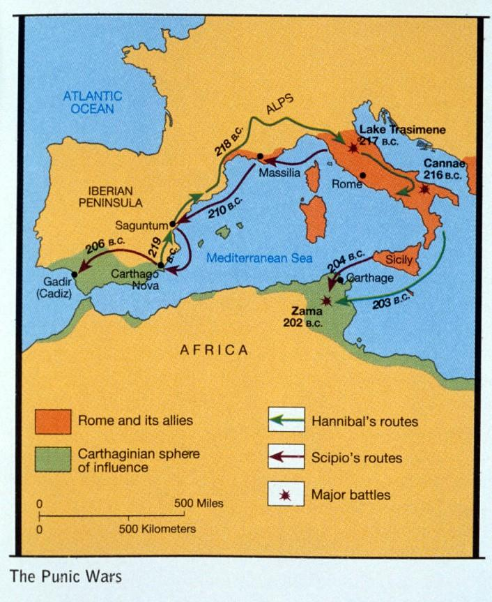The Punic Wars These were a series of three wars The first lasted 23 years and was fought for control of Sicily and the western Mediterranean