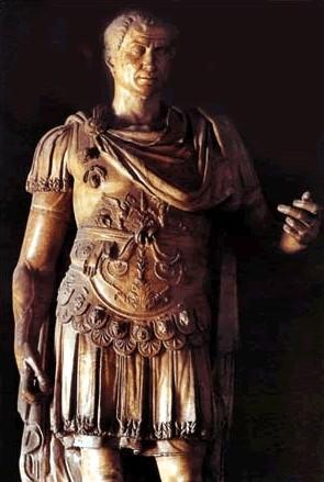 Caesar During 58-50 B.C. Caesar led his legions in a grueling but conquered all of Gaul He won his men