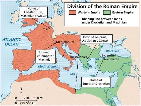 Diocletian became emperor in 284