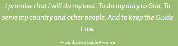 ZIMBABWE Zimbabwe Guide Law A Guide is loyal and can be