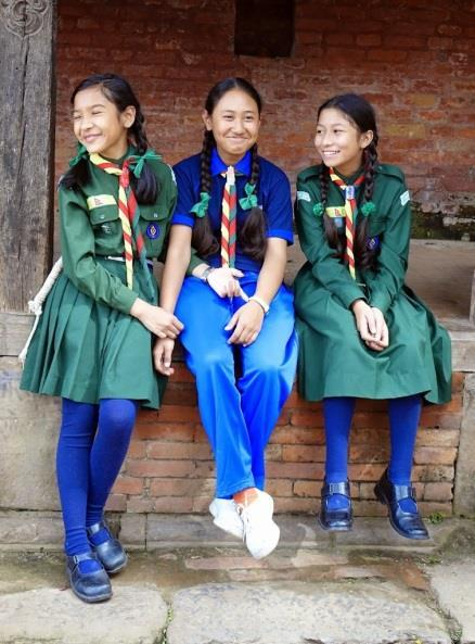 A Girl Scout is a friend to all and a sister to every