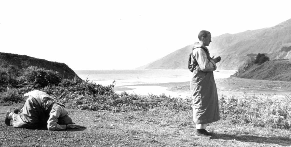 Two monks bow through Big Sur along the Pacific Coast Highway. I think I d rather be an old drunk than what you do. Norman Hammond completely took the wind out of his sails!