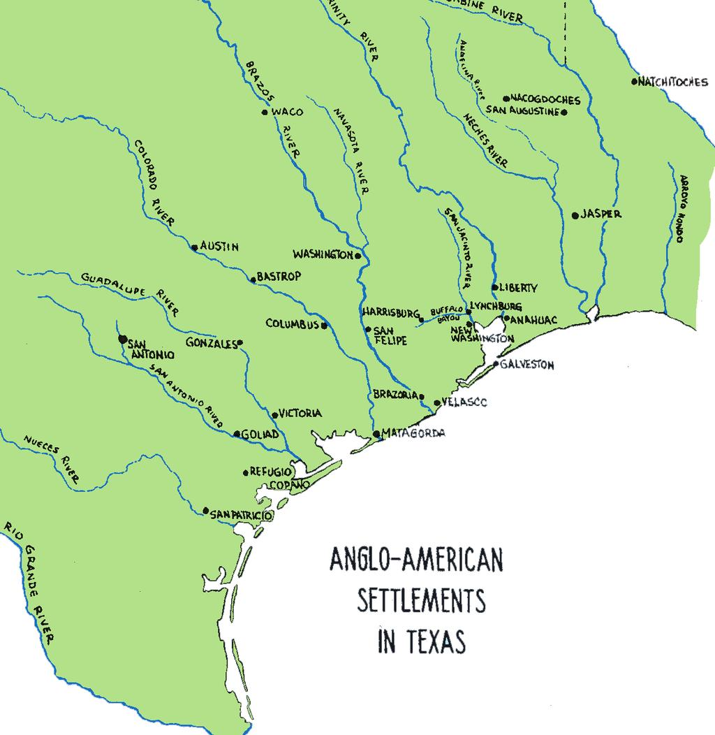 THE TEXAS STORY: REVOLUTION AND INDEPENDENCE 1519 1821-36 Present Mexico won independence from Spain in 1821.