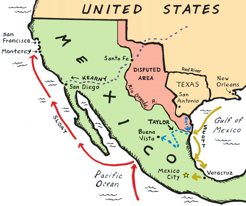 19 7 THE MEXICAN WAR, 1846-1848 1492 Present 1846-48 PRESIDENT JAMES K. POLK PROMOTER OF WESTWARD EXPANSION 1844!
