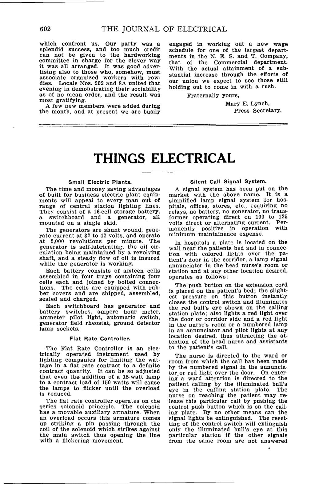 The Journal Of Tt1lcal Worlrp International Brotherhood Lincoln Sa 200 Idler Solenoid 602 Jourxal Electrical Which Confront Us Our Party Was A Splendid Success