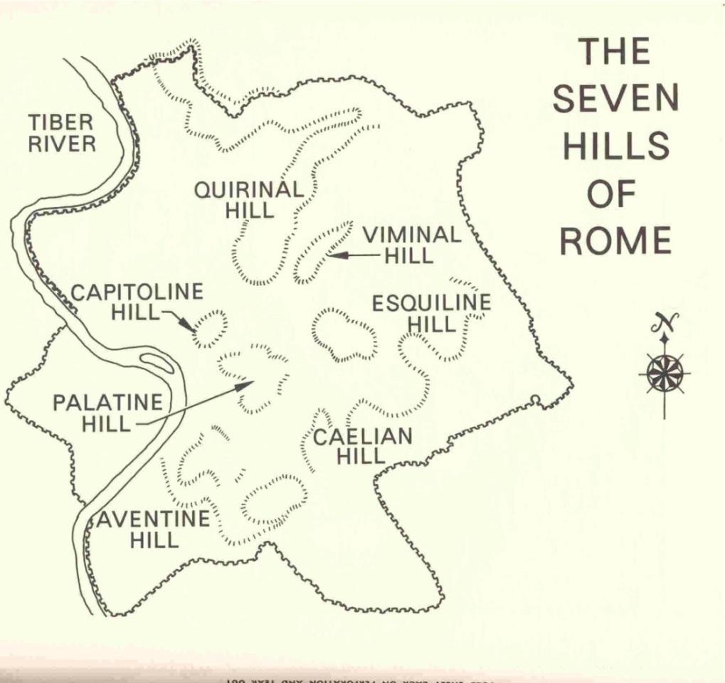 The origins of Rome The ancient city-state of Rome, located near the hills around the Tiber, was soon