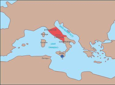 Occupation of Central Italy 265 B.C. At the time faced patricians and plebeians, the Romans dominated the neighboring villages.