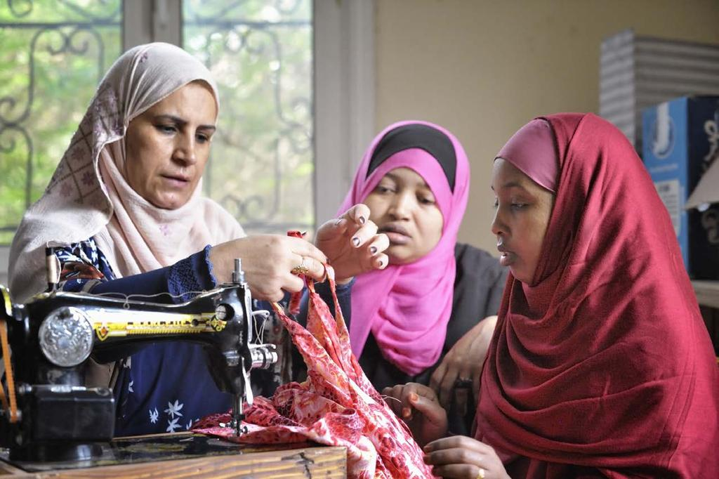 Refugee Sewing Class St. Andrews Refugee Services Cairo, Egypt Photo Credit: Paul Jeffrey This passage teaches that fear is the most destructive force that exists.