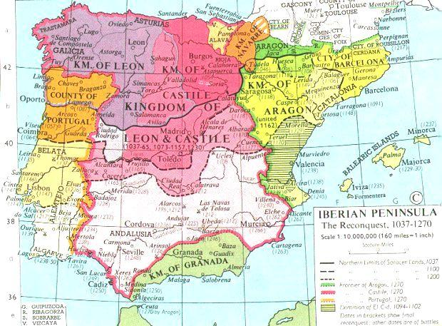 The Reconquista Muslim leaders drove the Crusaders out of Palestine. But in Spain just the opposite occurred.