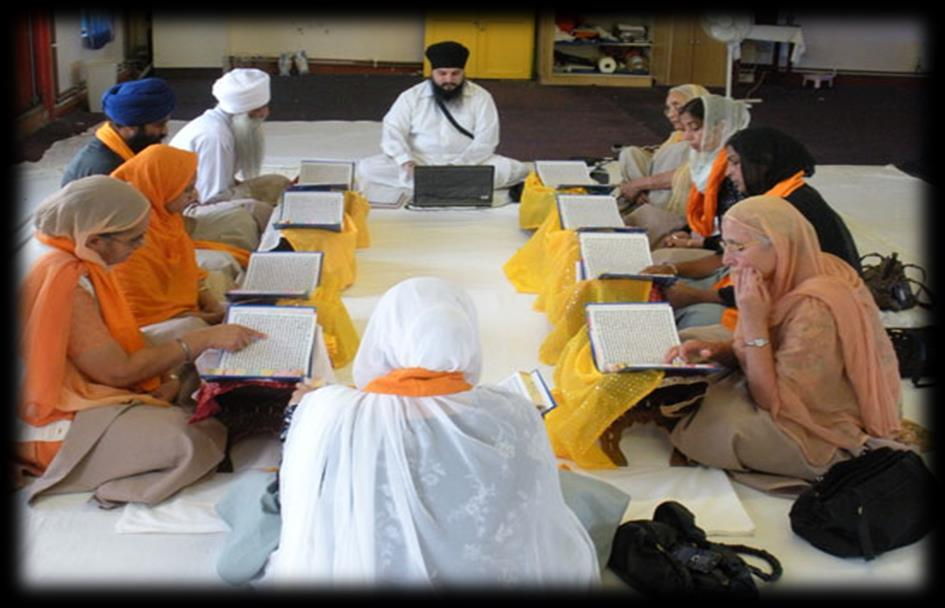 Different types of Sangat Doing Kirtan (singing) in the Sangat Doing