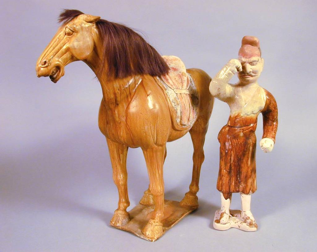 Horse China, Tang Dynasty (618-906 CE) Earthenware, sancai lead glaze, pigment, synthetic hair Gift of Mr. and Mrs. Robert M. Snukal 1995.102.
