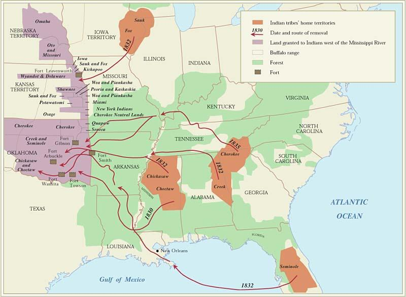 Indian Removal Act - 1830 Moved 100,000 Native Americans All tribes east of the