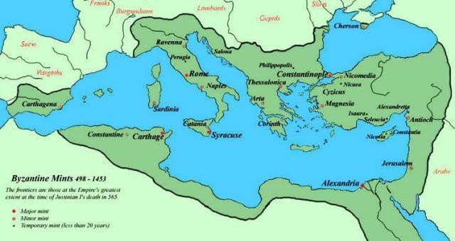The 2 nd Rome Map of the Byzantine