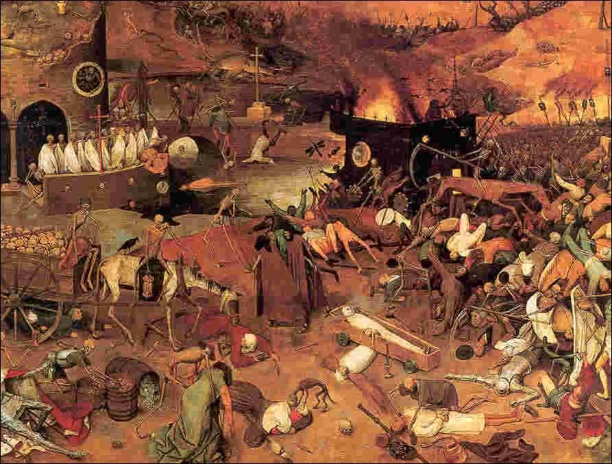 About 25 million people died from the plague.