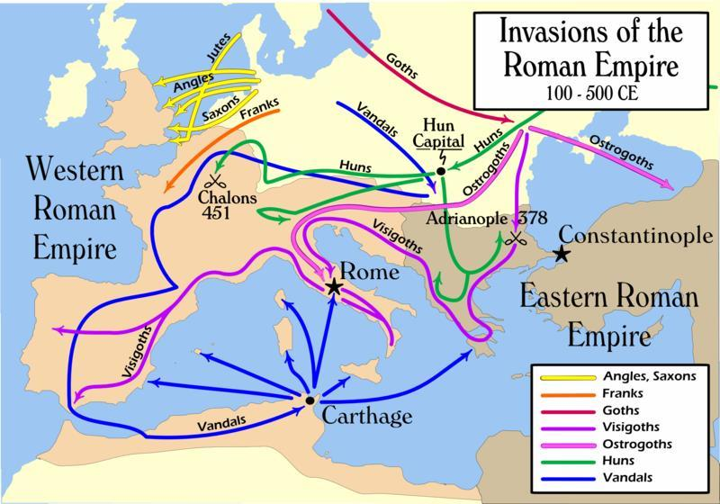 Foreign Invasions Due to the divide in the Country east and west as well as political and economic