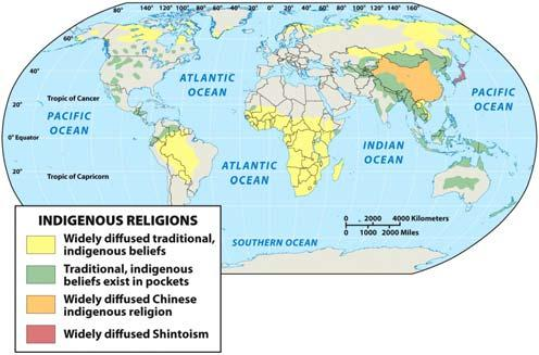 Indigenous Religions Local in scope Passed down in families Under pressure from global religions Shamanism A community faith tradition Shaman: A religious leader, teacher, healer, and visionary Have