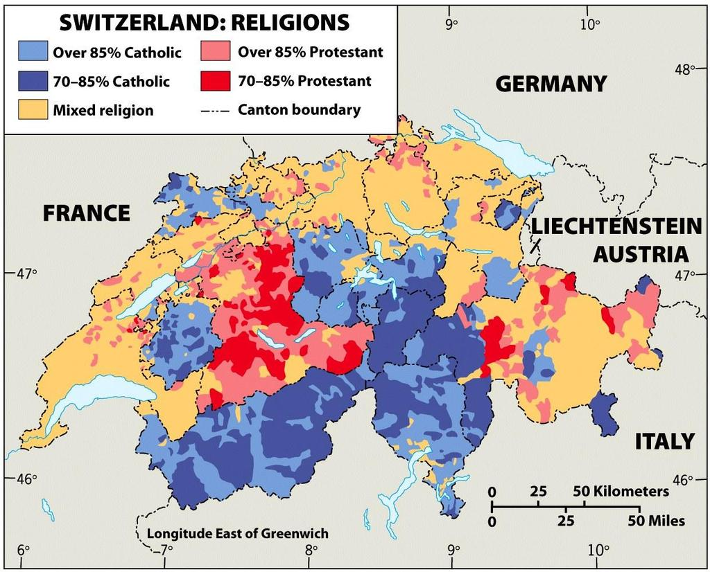 Divisions in Christianity Catholic and