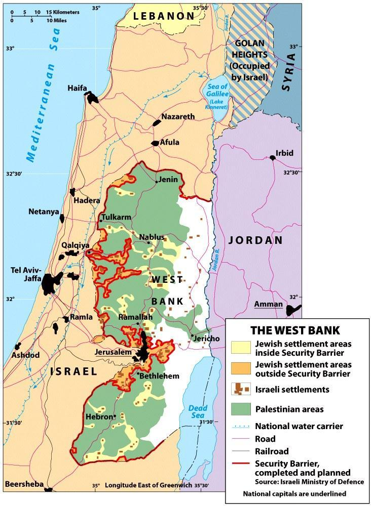 British mandate of Palestine Partition of Palestine by United Nations Israeli state Palestinian state 1967: Israeli control