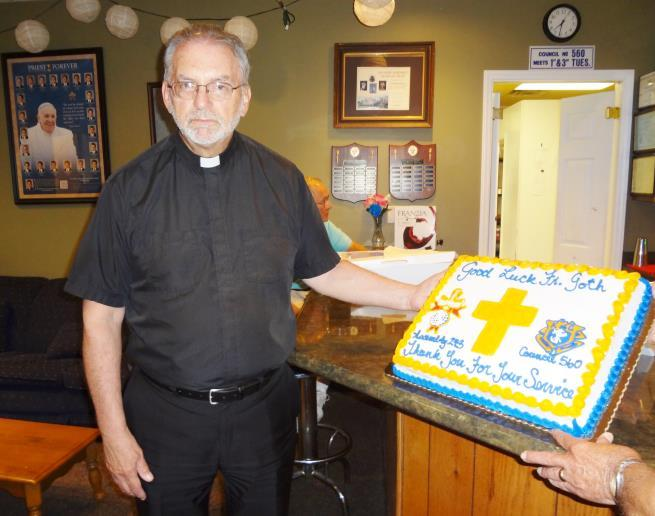 Father Dennis Goth (continued): Father Goth was honored at the