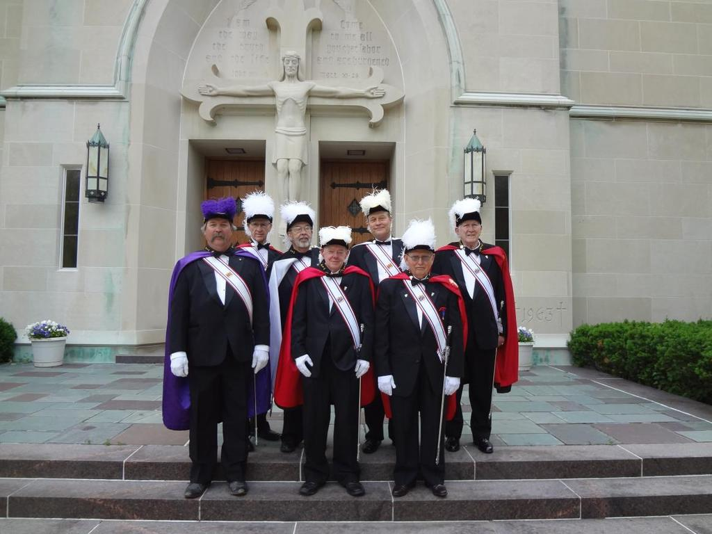 Assembly Knights at St Mary for Corpus Christi Service Seven 4 th Degree Knights of Columbus from Assembly 243 participated in the June 7 th