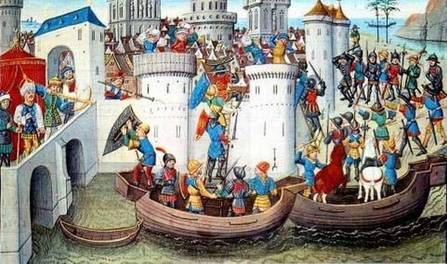 The Fourth Crusade was launched in 1204, but rather than fighting Muslims, the Christian army turned to Constantinople and