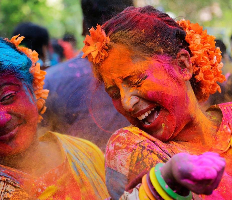 Modern India Holi: Festival of Colours Hindu festival to herald in the spring in early