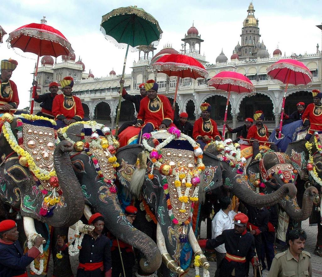 Elephants are a significant animal in Hinduism, and most temples keep