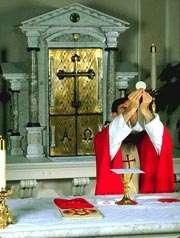 Consecration of the Bread Eucharistic Prayer IV New Text Priest: For when the hour had come for him to be glorified by you, Father most holy, having loved his own who were in the world, he loved them