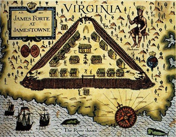 JAMESTOWN Virginia Company of London Established in 1607 on mouth of Chesapeake Bay John Smith he that