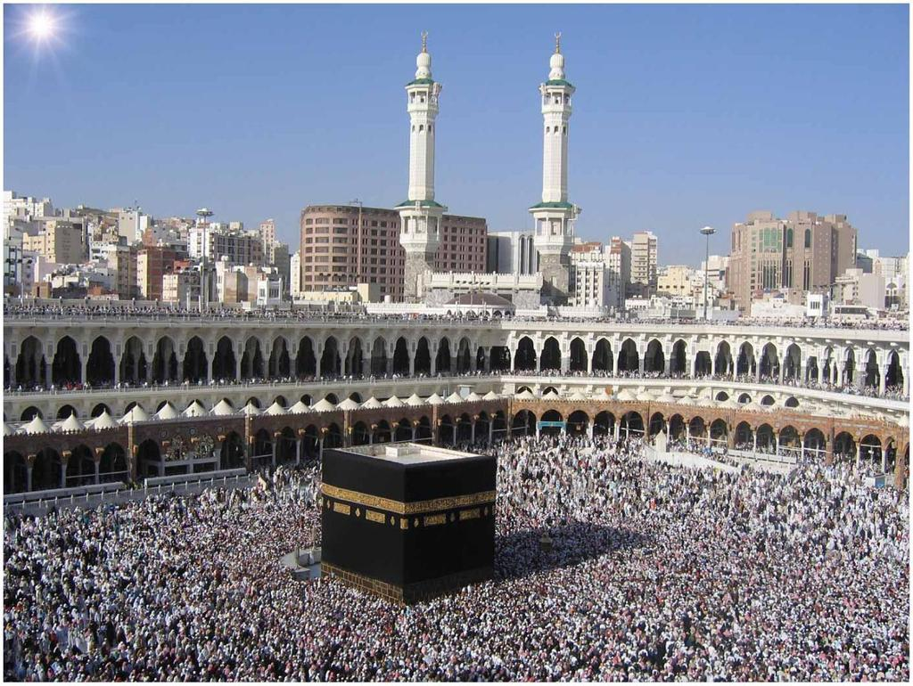 HOLY PLACES IN ISLAM HOLIEST LOCATIONS ARE IN CITIES ASSOCIATED WITH PROPHET MUHAMMAD. HOLIEST CITY IS MAKKAH (MECCA), BIRTHPLACE OF MUHAMMAD.