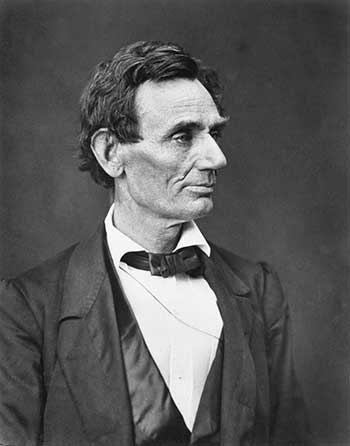 Abraham Lincoln was born in a log cabin in Illinois in 1809.