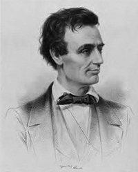 An early sketch of Lincoln shows him in his early twenties as he began his career in politics.