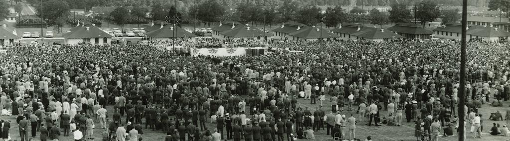 Billy Graham and Racial Equality Billy Graham s Fort Jackson Crusade in 1958 was the first integrated mass meeting in South Carolina history.