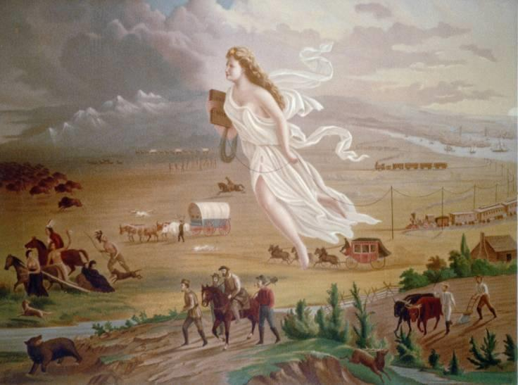 ESSENTIALLY MANIFEST DESTINY WAS THE BELIEF THAT THE U.S. HAD A GOD GIVEN MISSION TO