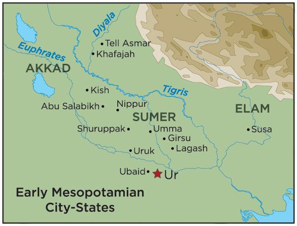 Political: City-States Mesopotamia was made up of many different city-states which are cities who rule