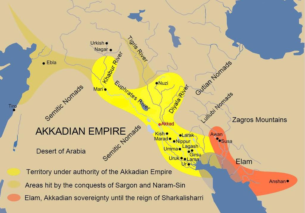 conquered Sumer creating a much larger Semitic Empire in